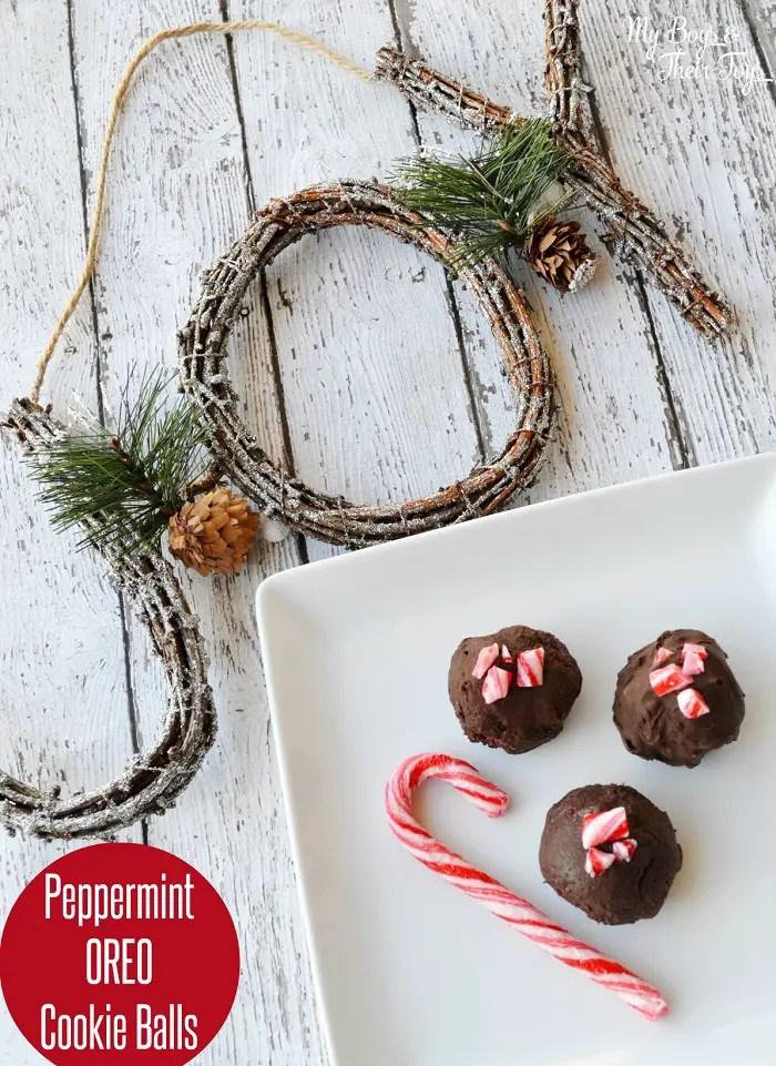 Peppermint Oreo cookie balls