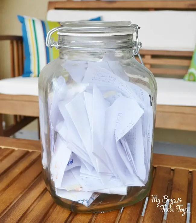memories jar