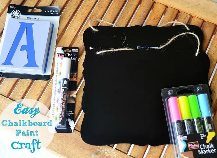 chalkboard paint craft