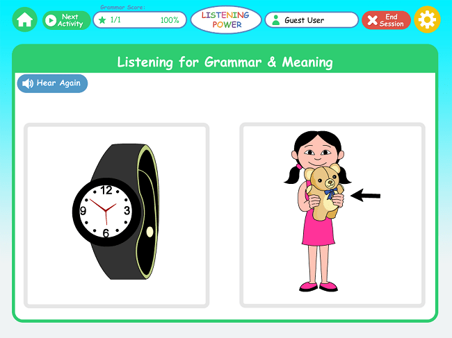 Listening Power Preschool app