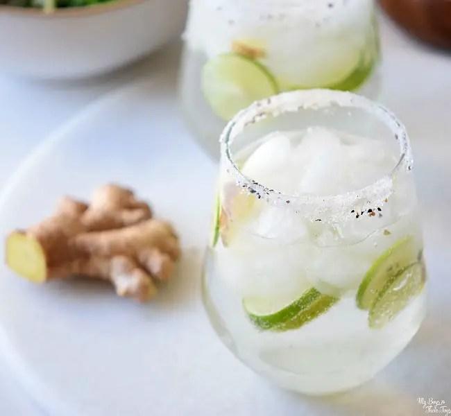 ginger lime spritzer