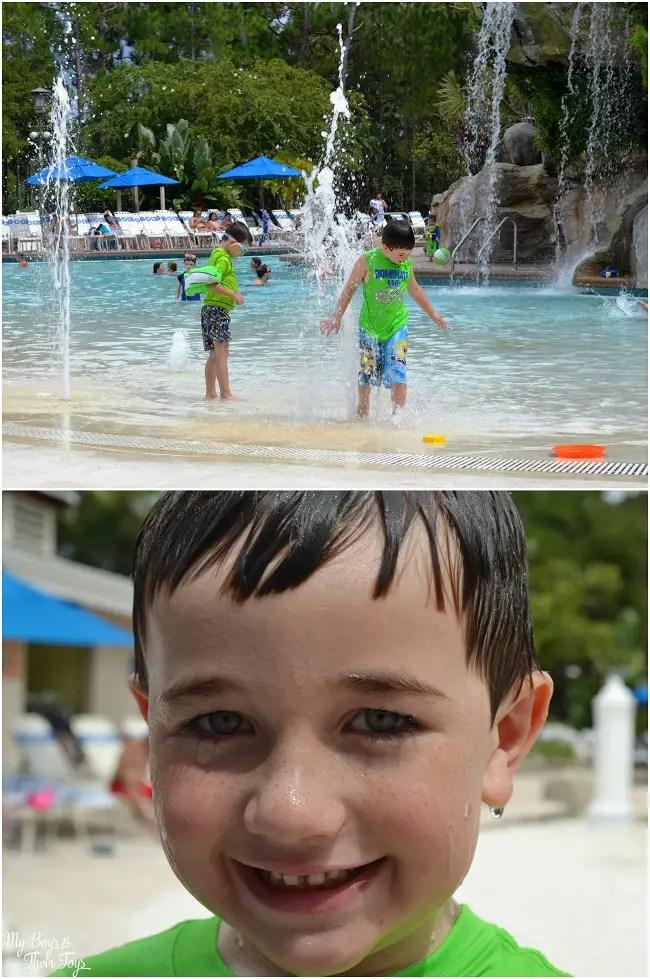 L at the pool