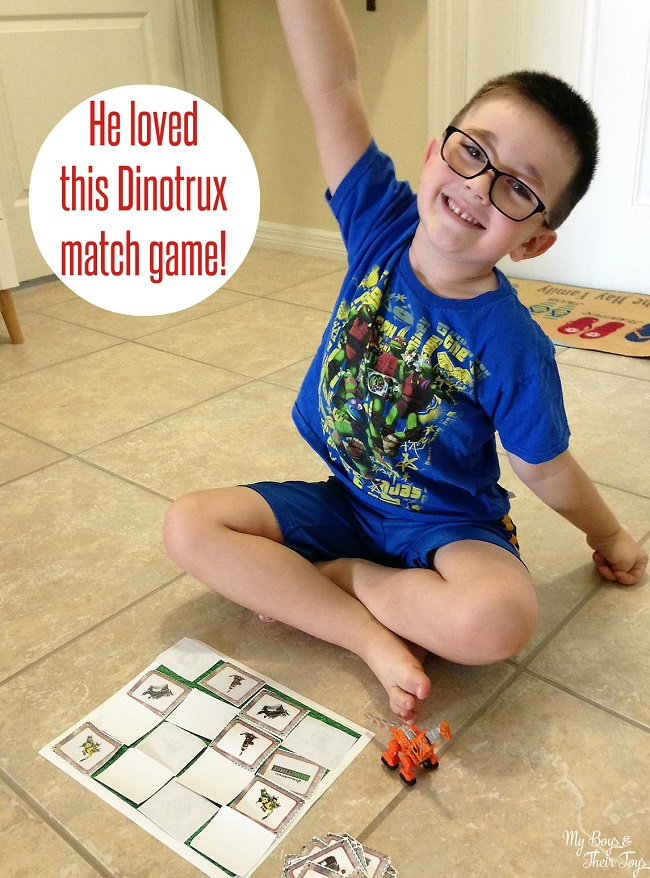 dinotrux match game