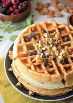 Simple Nutty Homemade Waffles