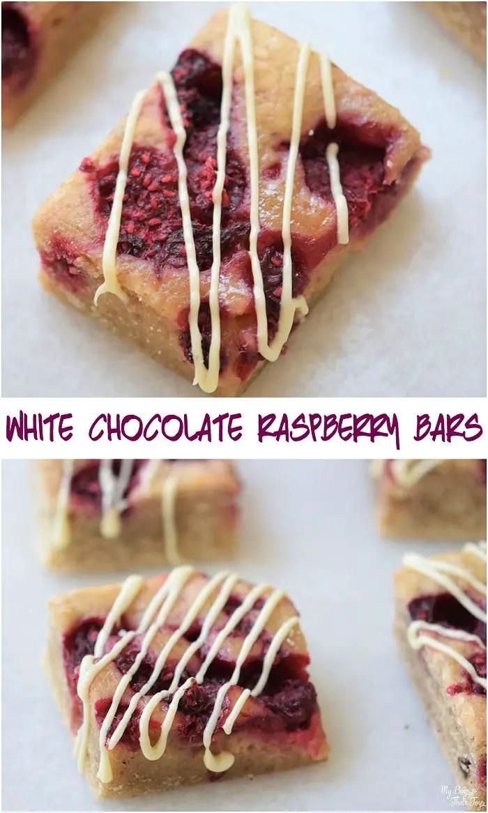 white chocolate raspberry bars recipe
