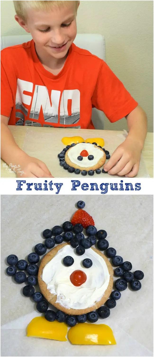 penguin fruit pizzas