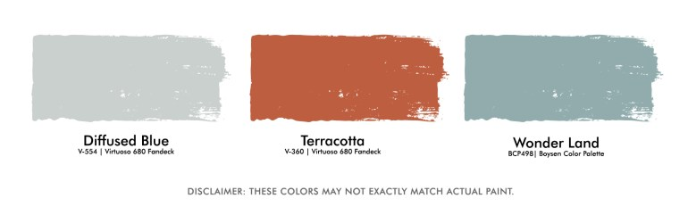 Color Palette for Office room with orange drape