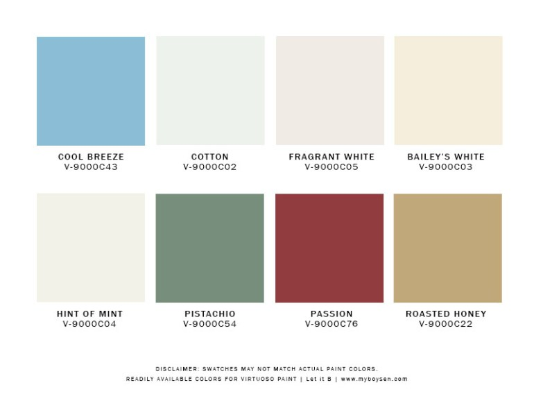 Readily Available Colors for Virtuoso Paint | MyBoysen