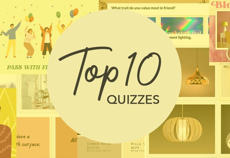 MyBoysen's Top 10 Fun Quizzes