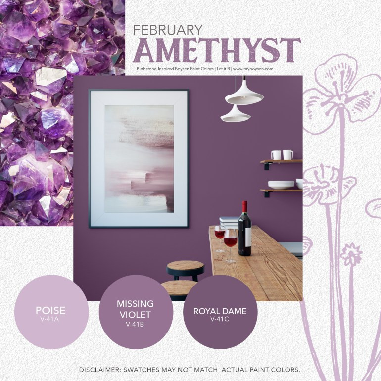 Birthstone-Inspired Boysen Paint Colors | MyBoysen