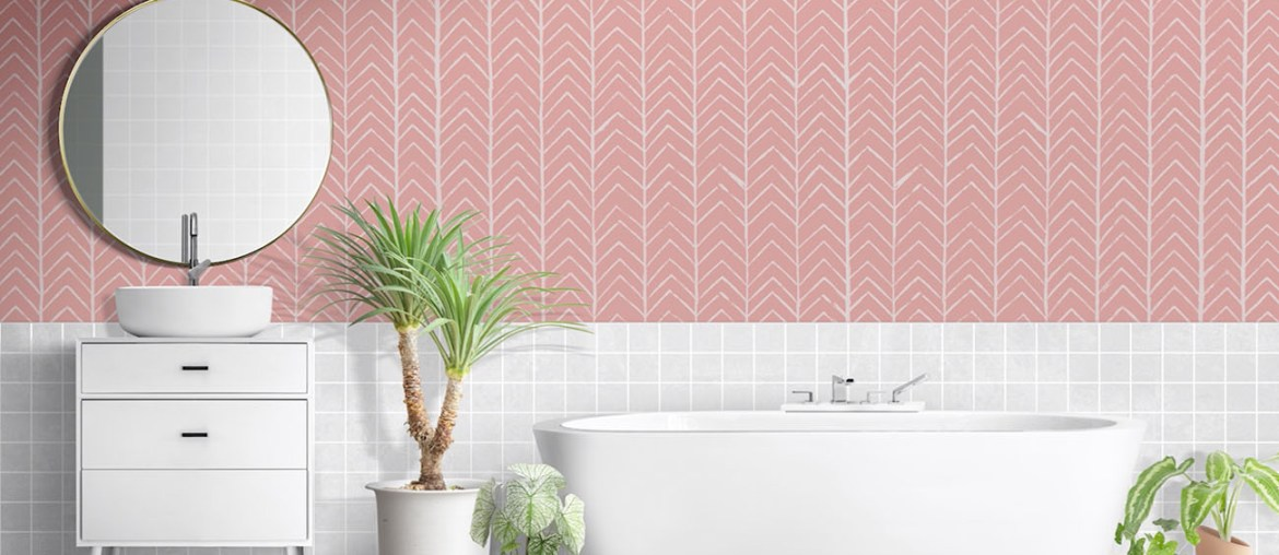 How to Make an Easy Chevron Pattern on Your Walls   MyBoysen