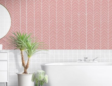 How to Make an Easy Chevron Pattern on Your Walls | MyBoysen