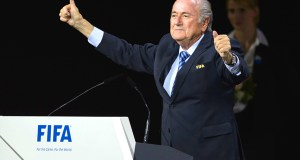 Joseph Blatter is re-elected as head of FIFA