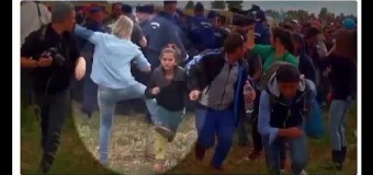 Hungarian TV camerawoman fired for tripping Syrian migrants