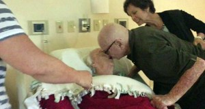 92-year-old man sings love song for his dying wife