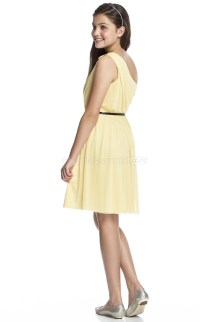 Gold Short/Mini A-line Chiffon Junior Bridesmaid Dress ...