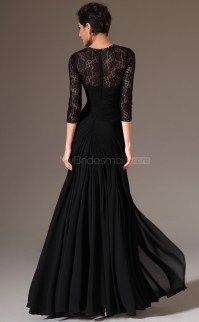 Black Lace Bridesmaid Dresses:Vintage Black Chiffon and ...