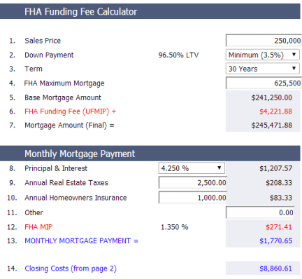 fha payment
