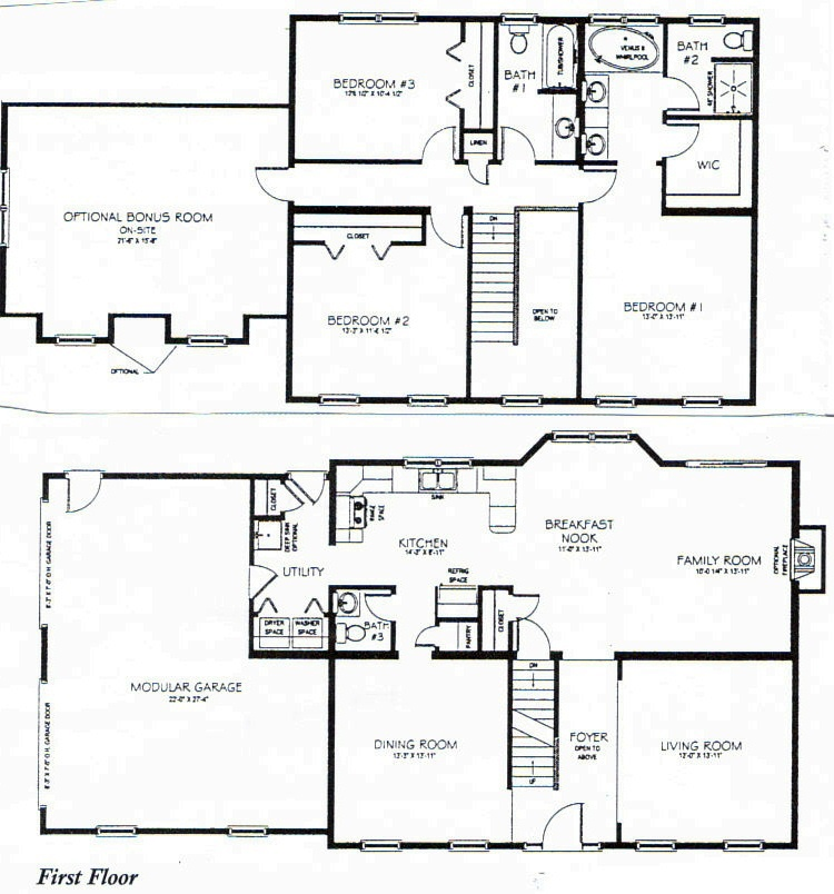 Three Story Floor Plans