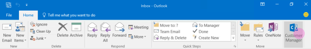 outlook cutomer manager