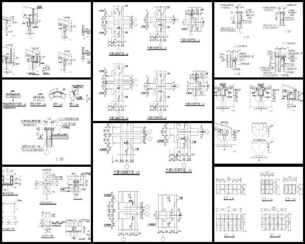 廠房設計、工業廠房、焊接詳圖、2H鋼柱詳圖、鋼柱剖面詳圖、鋼柱接合詳圖、鋼柱續接施工詳圖、樑與樑簡接詳圖、雙排螺栓配置詳圖、鋼樑開口立面圖、I形槽焊接、鋼柱基座剖面圖、鋼柱立面圖、鋼柱補強詳圖、樑與樑鋼接詳圖、鋼樑開口補強詳圖、鋼柱樑接合剖面詳圖、SRC樑柱剖面圖、SRC樑剖面圖、SRC電焊接合圖、樓板角隅補強詳圖、樓板開孔剖面圖、樓板短向剖面圖、樓板長向剖面圖、樓板與樑收邊詳圖、金屬版配筋圖、樓版與帷幕牆收邊詳圖、屋頂樓版收邊詳圖、鋼骨樓梯大樣圖、樓板大開口詳圖、樓版與剪力釘剖面圖、RC牆與鋼樑接合詳圖