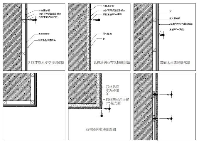 帷幕牆工程、單元組合式帷幕牆、鋁擠型材料、金屬帷幕牆、預鑄帷幕牆、外飾面材詳圖(依圖例為準)