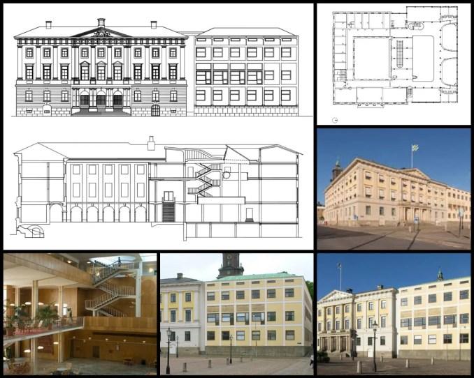 【世界知名建築案例研究CAD設計施工圖】哥德堡市政廳-哥德堡聯排別墅 Gothenburg city hall-goteborgs radhus