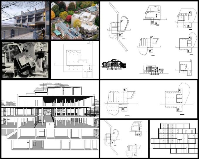 【世界知名建築案例研究CAD設計施工圖】卡本特視覺藝術中心-Le Corbusier勒·柯布西耶