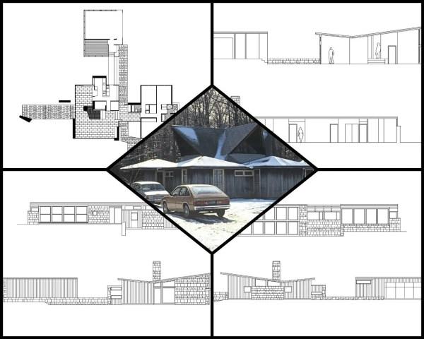 【世界知名建築案例研究CAD設計施工圖】Wiesshouse 路易斯·康Louis Kahn