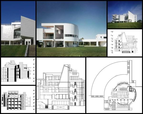 【世界知名建築案例研究CAD設計施工圖】Richard Maier-Centro internacional