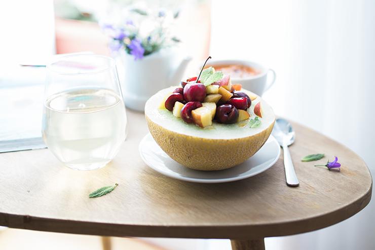 Hitze Melone Salat