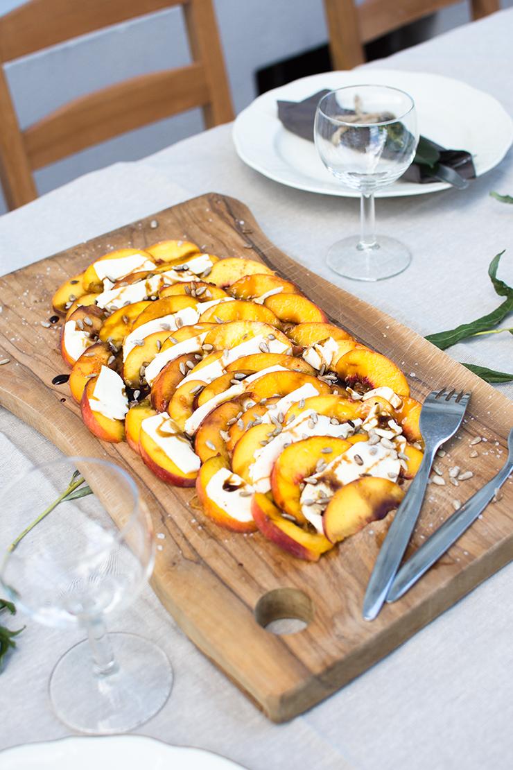 Blogger Dinner Omas Teekanne Pfirsich Mozzarella