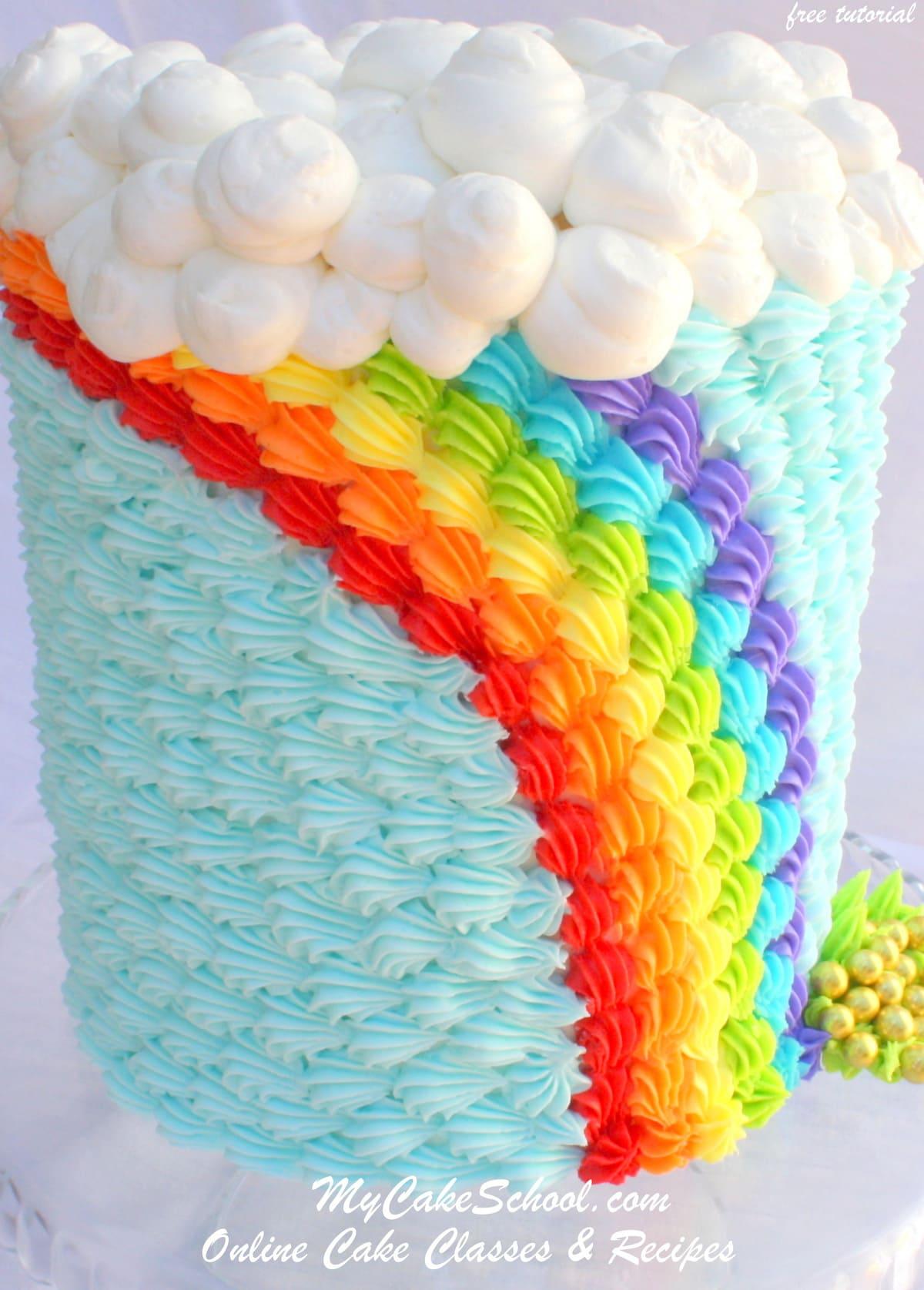 Saint Patrick S Day Buttercream Rainbow Blog Tutorial