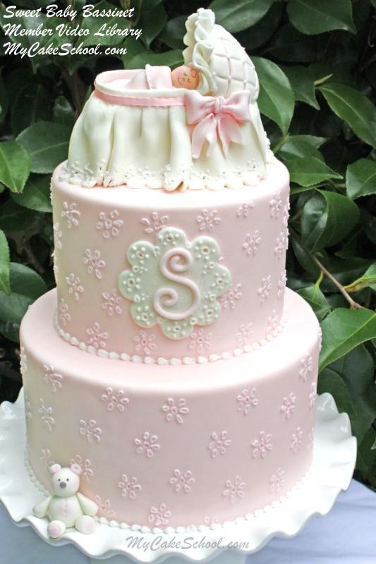 Sweet Baby Bassinet Cake Topper Video Tutorial  My Cake