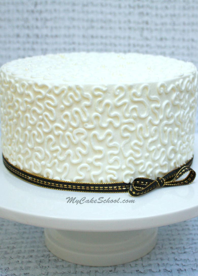 How To Pipe Cornelli Lace Cake Decorating Video Tutorial My Cake School