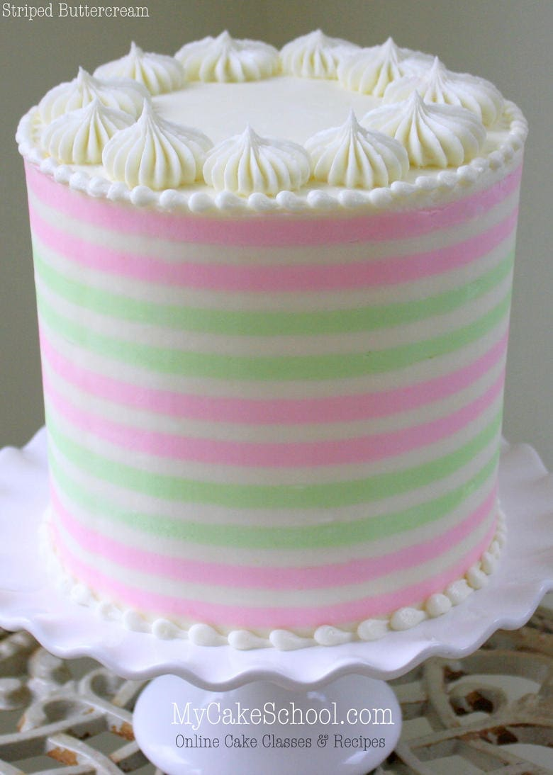 discount kitchen supplies portable cabinet how to create striped buttercream! -a cake decorating ...