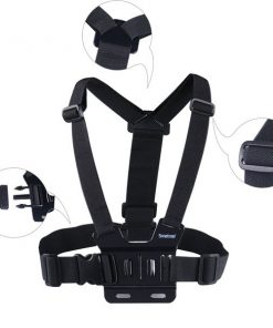 Adjustable Head Strap Mount + Chest Harness Belt Strap + Aluminum Thumbscrew + J-Hook for Gopro