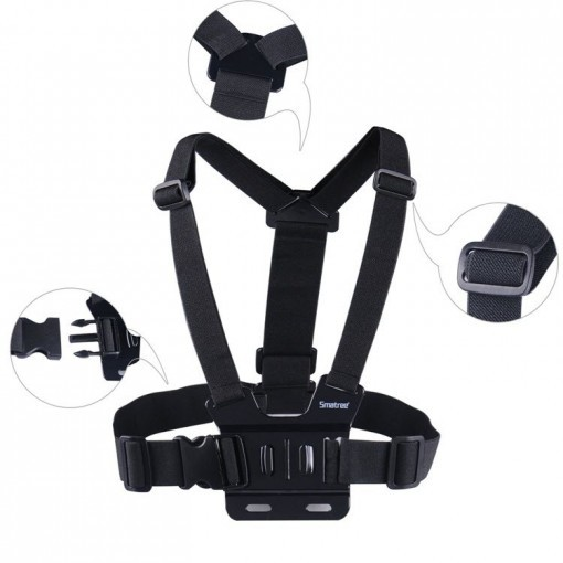 The chest strap mount lets you capture your knees & skis on the slopes, or your bike frame & handlebars. Product description: Chest Strap Mount, Thumbscrew, J-Hook are compatible with all GoPro cameras and sj4000 camera, fully adjustable to fit all sizes. 1.The chest strap mount lets you capture your knees & skis on the slopes, or your bike frame & handlebars. 2. Perfect for skiing, mountain biking, motocross, paddle sports, or any activity. 3. chest strap mount are made with Nylon Straps and Polycarbonate buckles.With mounts allow you the freedom and flexibility to capture a variety of previous moments. Package: 1 x Smatree Chest Strap Mount