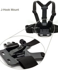 Adjustable Head Strap Mount + Chest Harness Belt Strap + Aluminum Thumbscrew + J-Hook for Gopro hero