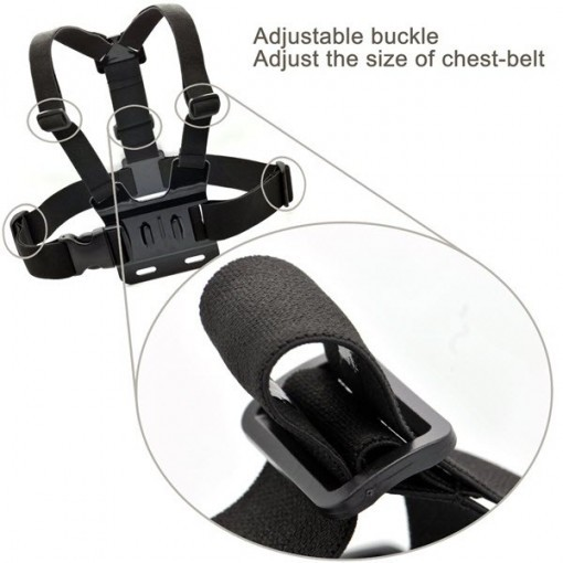 Adjustable Head Strap Mount + Chest Harness Belt Strap + Aluminum Thumbscrew + J-Hook for Gopro , sjcam , SJ4000 SJ5000 2