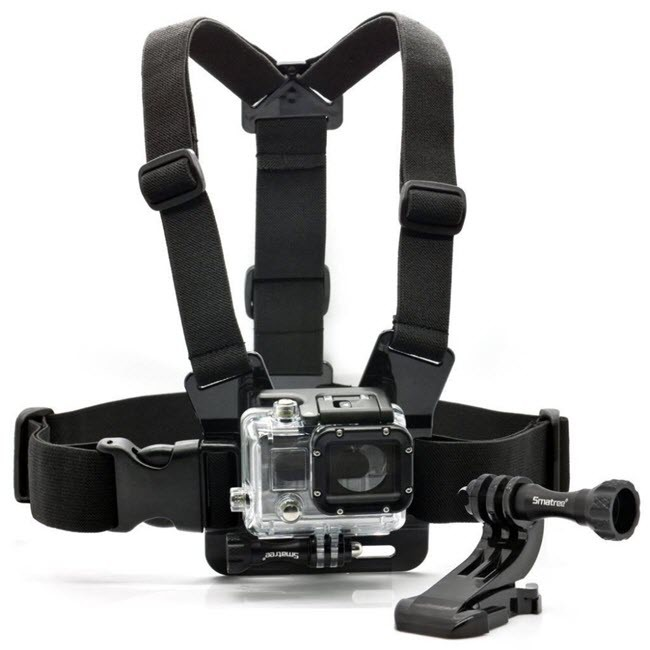 The chest strap mount lets you capture your knees & skis on the slopes, or your bike frame & handlebars. Product description: Chest Strap Mount, Thumbscrew, J-Hook are compatible with all GoPro cameras and sj4000 camera, fully adjustable to fit all sizes. 1.The chest strap mount lets you capture your knees & skis on the slopes, or your bike frame & handlebars. 2. Perfect for skiing, mountain biking, motocross, paddle sports, or any activity. 3. chest strap mount are made with Nylon Straps and Polycarbonate buckles.With mounts allow you the freedom and flexibility to capture a variety of previous moments. Package: 1 x Smatree Chest Strap Mount 7