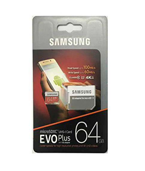 samsung 64gb 100mb s memory evo plus micro sd card with. Black Bedroom Furniture Sets. Home Design Ideas