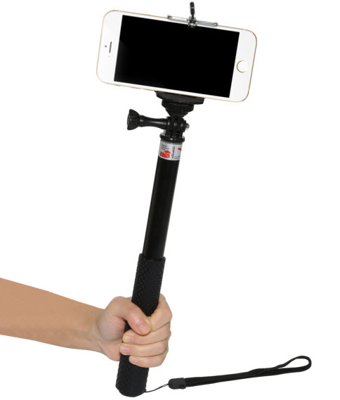 35874479e96386 36 inch aluminium alloy Monopod selfie stick for gopro and action cameras