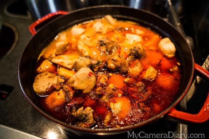 Lumaca Photography   Baby Taro Chicken Stew