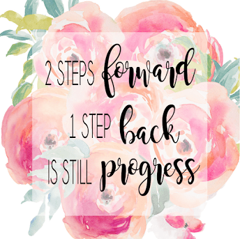 2 Steps Forward 1 Step Back Peony Quote