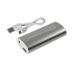 Αυτόνομος Φορτιστής Μπαταρίας {Power Bank} USB 4000mAh POWER PACK 9000 με φως LED Ασημί/Χρυσό