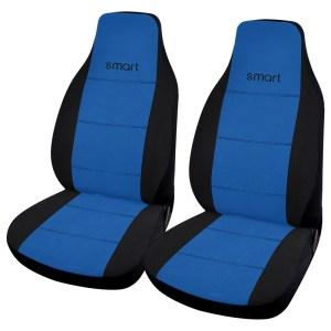 Σετ Καλύμματα Μπροστινά Αυτοκινήτου Μπλε 2τμχ για Smart