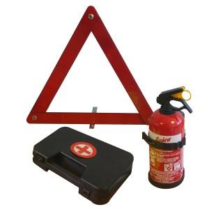 Σετ Ασφαλείας Αυτοκινήτου Πυροσβεστήρας 1kg/Τρίγωνο/Φαρμακείο της Guard