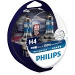 Λάμπες Αυτοκινήτου Philips H4 RacingVision +150% 12V 2τμχ