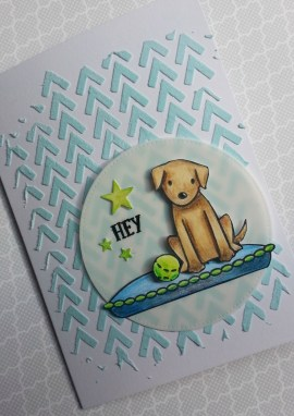 Avery Elle Furry Friends Finished Card